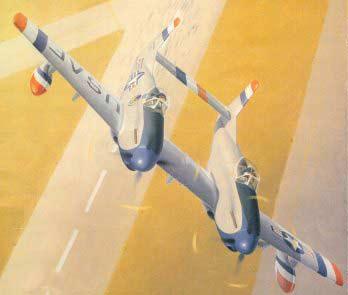 Истребитель Твин Мустанг Ф-82, F-82F